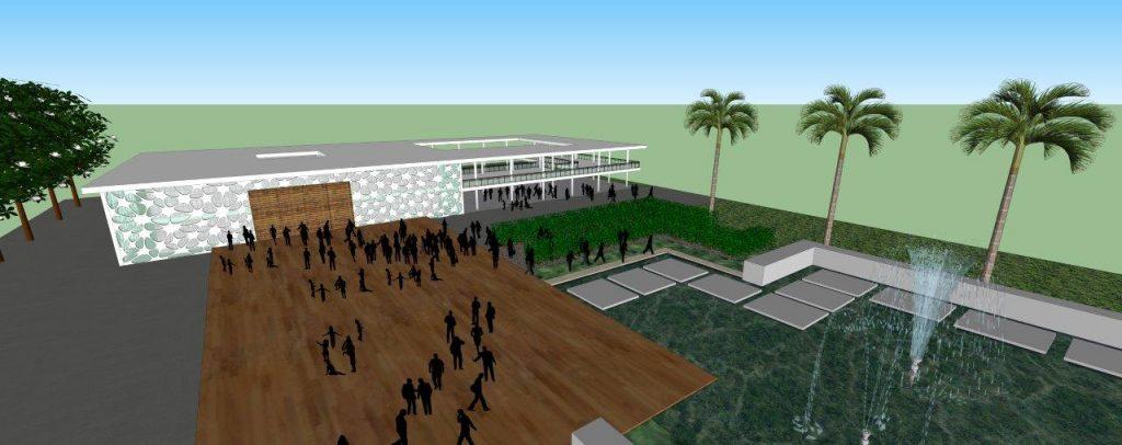 Progetto di un edificio del Municipio e Paço Municipal in una piccola città a Bahia, in Brasile